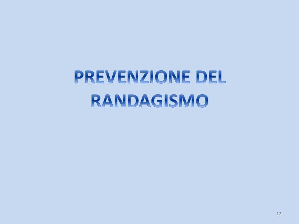 PREVENZIONE DEL RANDAGISMO
