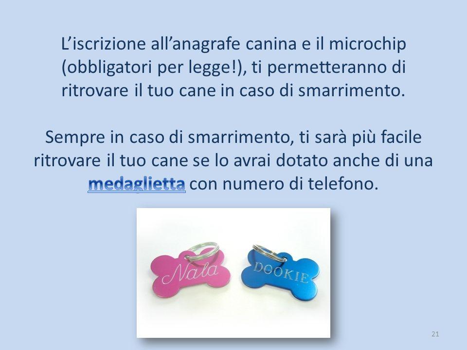 L'iscrizione all'anagrafe canina e il microchip (obbligatori per legge