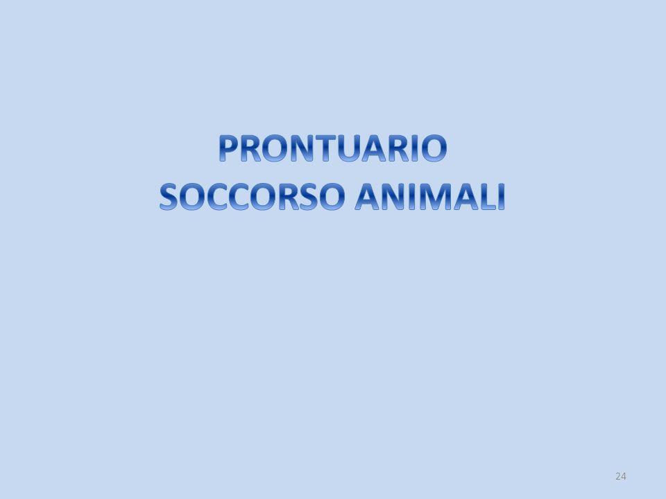 PRONTUARIO SOCCORSO ANIMALI