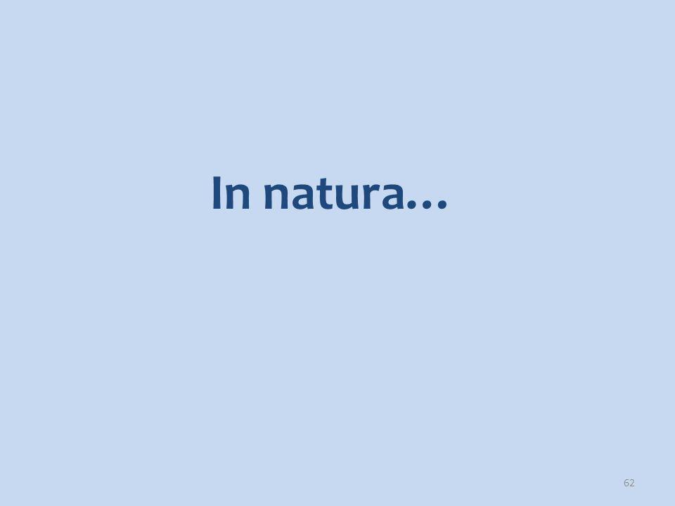 In natura…
