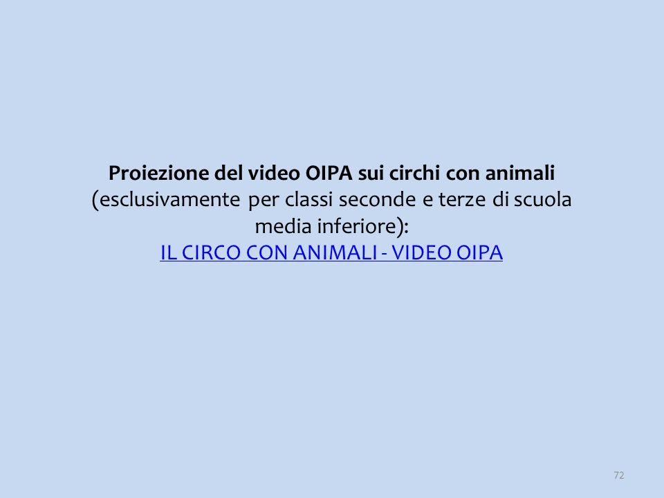 IL CIRCO CON ANIMALI - VIDEO OIPA