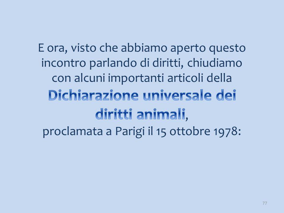 proclamata a Parigi il 15 ottobre 1978: