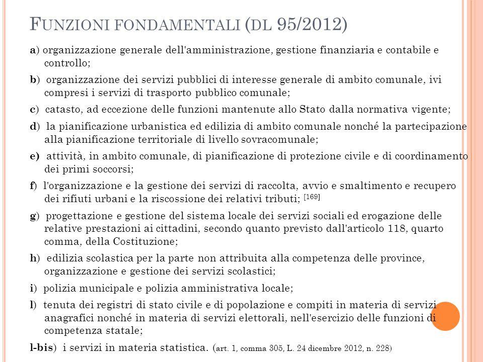 Funzioni fondamentali (dl 95/2012)