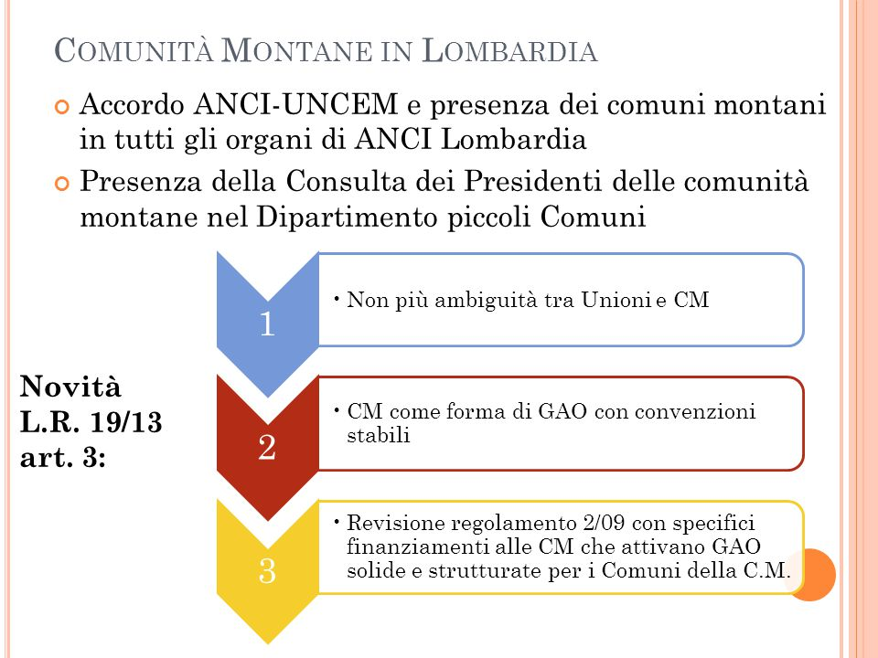 Comunità Montane in Lombardia