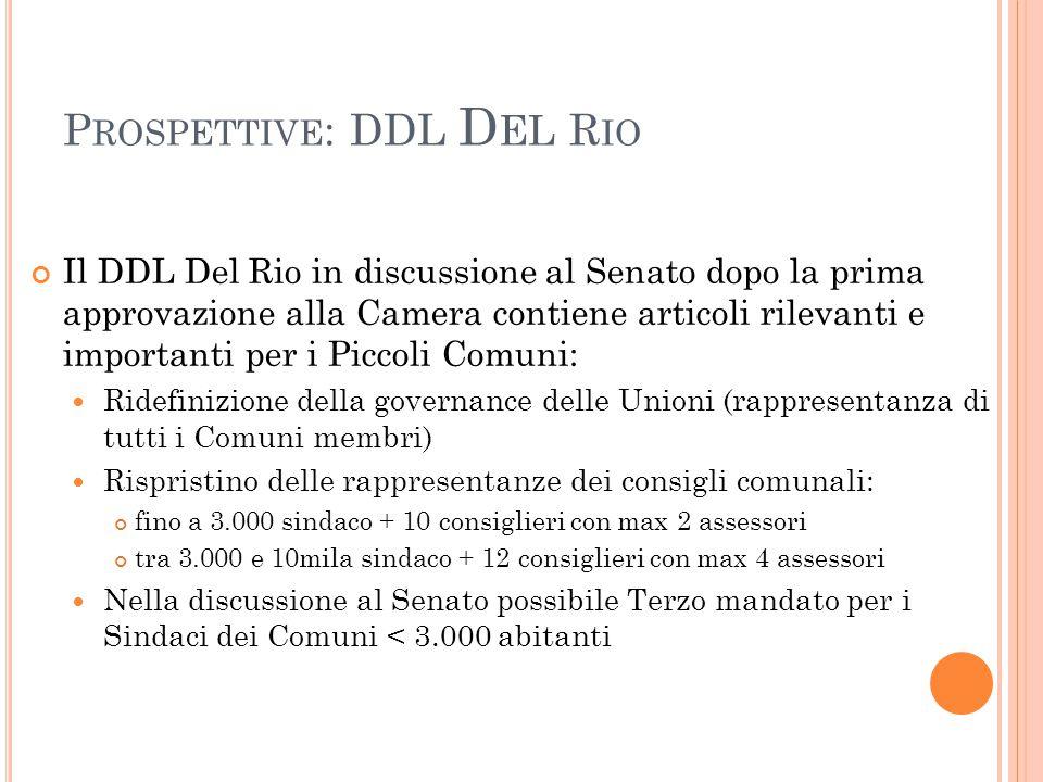 Prospettive: DDL Del Rio