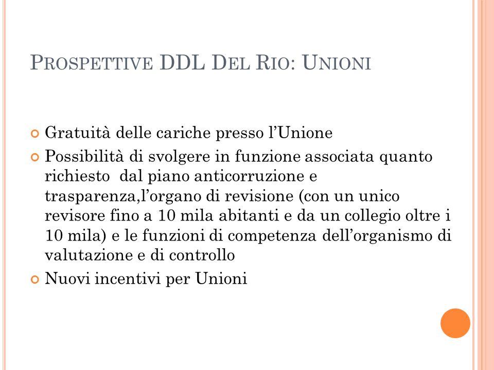 Prospettive DDL Del Rio: Unioni
