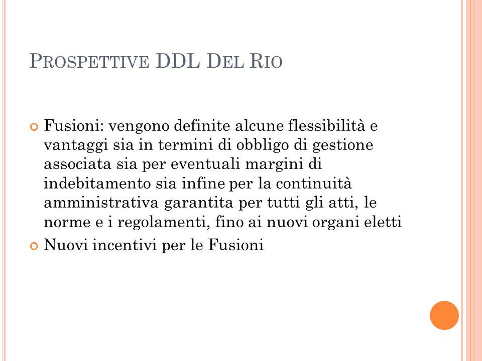 Prospettive DDL Del Rio