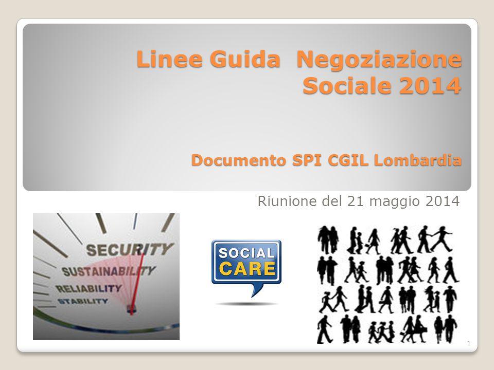 Linee Guida Negoziazione Sociale 2014 Documento SPI CGIL Lombardia