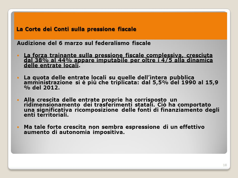 La Corte dei Conti sulla pressione fiscale