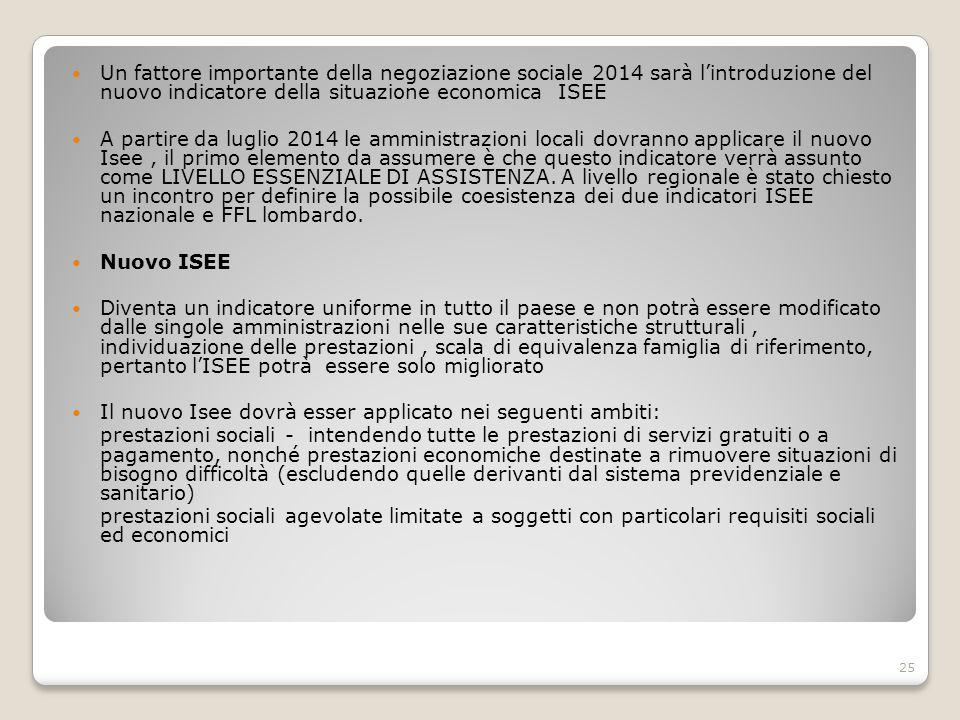 Un fattore importante della negoziazione sociale 2014 sarà l'introduzione del nuovo indicatore della situazione economica ISEE