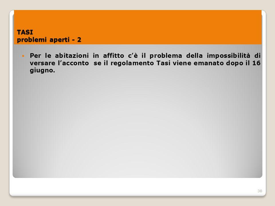 TASI problemi aperti - 2