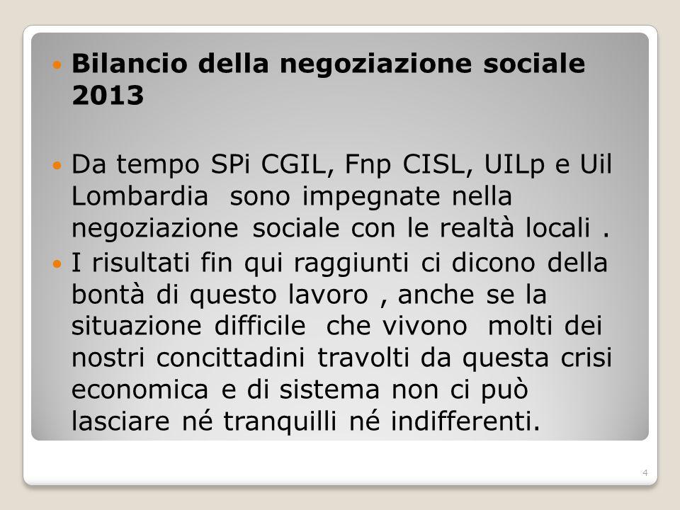 Bilancio della negoziazione sociale 2013