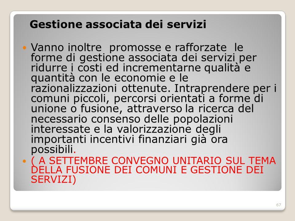 Gestione associata dei servizi