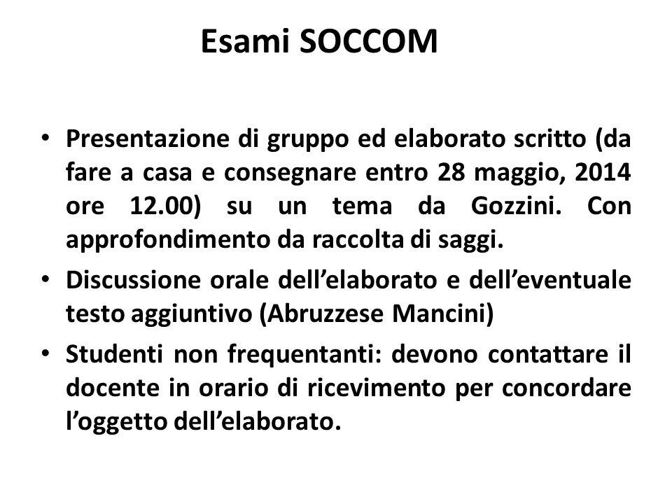 Esami SOCCOM