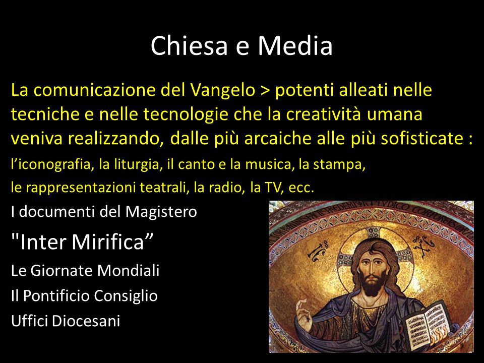 Chiesa e Media Inter Mirifica