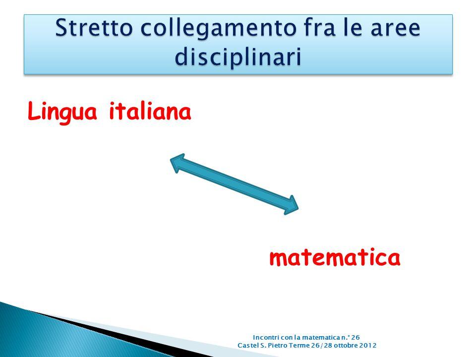 Stretto collegamento fra le aree disciplinari