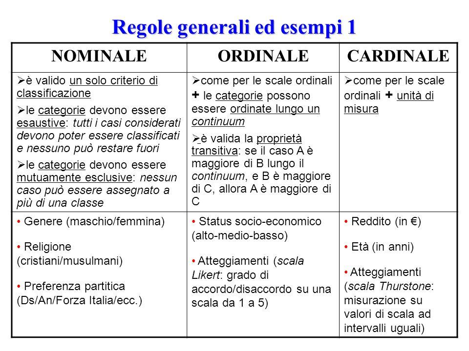 Regole generali ed esempi 1