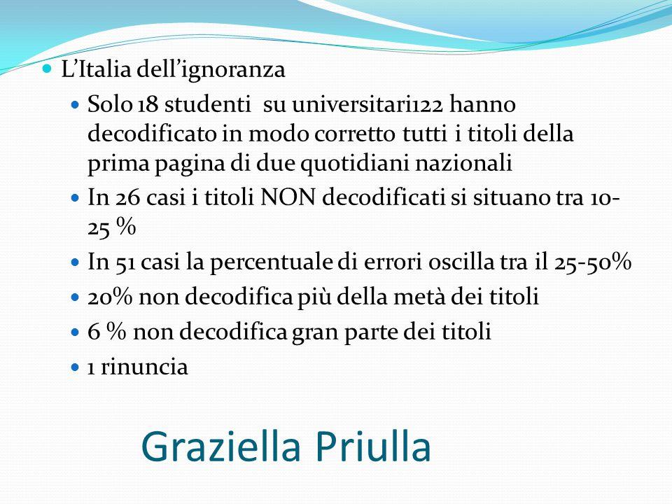 Graziella Priulla L'Italia dell'ignoranza