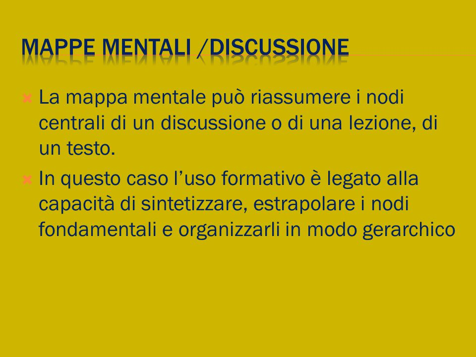 Mappe mentali /discussione