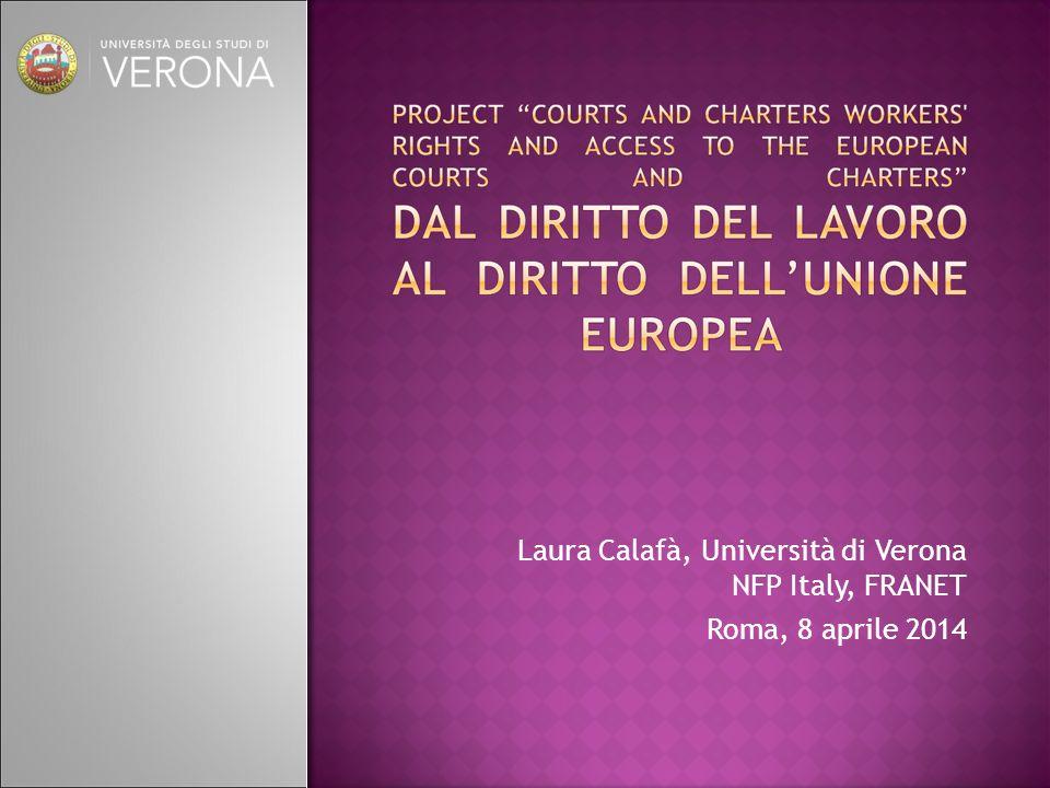 Laura Calafà, Università di Verona NFP Italy, FRANET