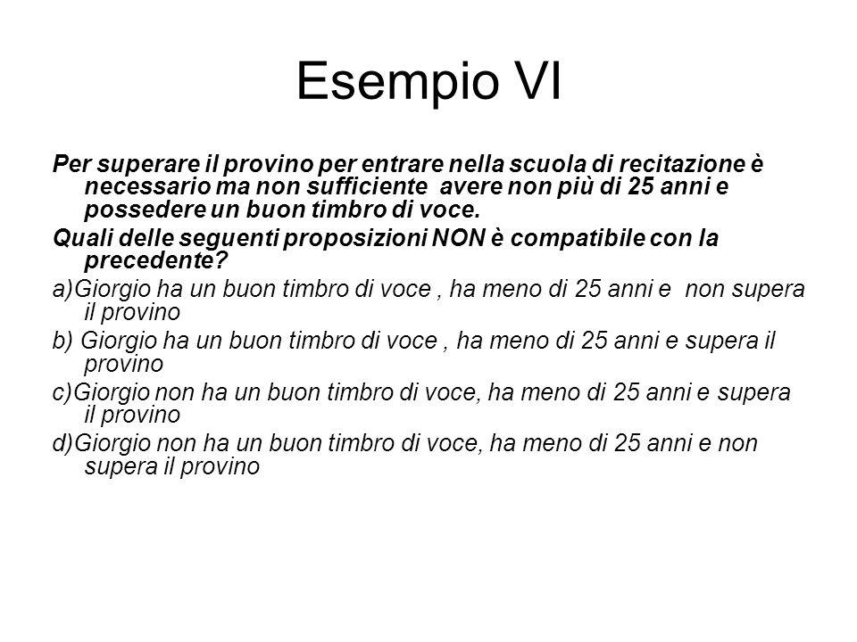 Esempio VI