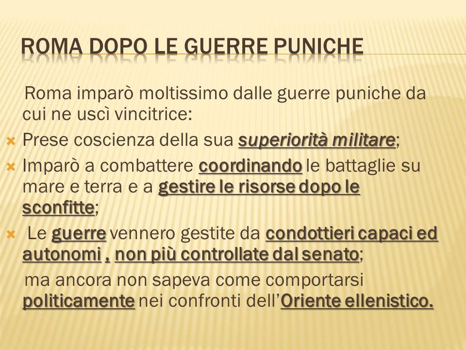 Roma dopo le guerre puniche