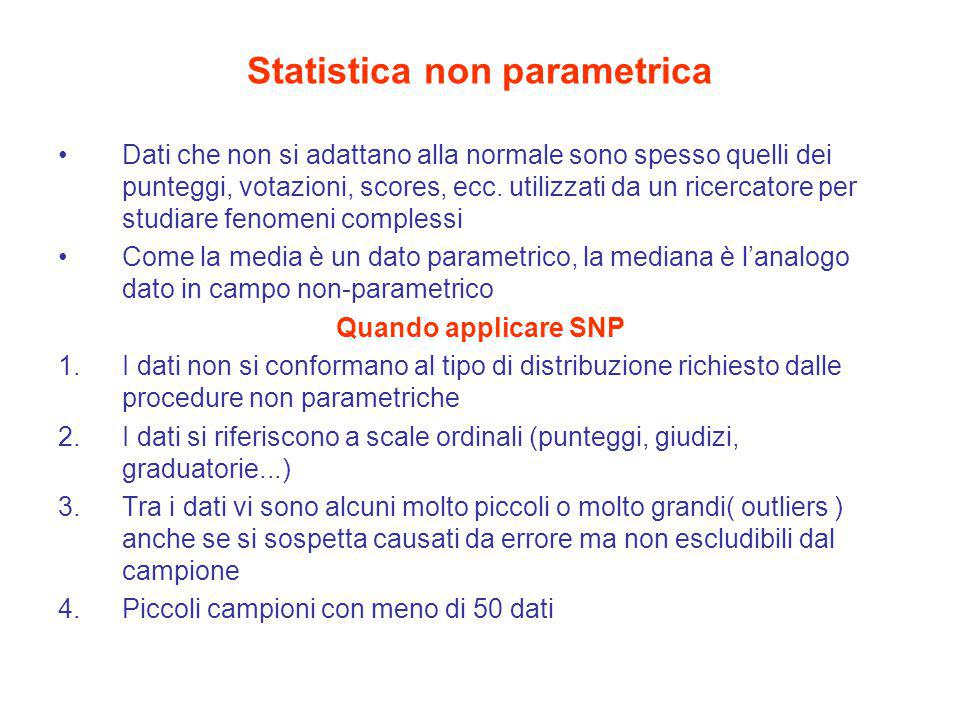 Statistica non parametrica