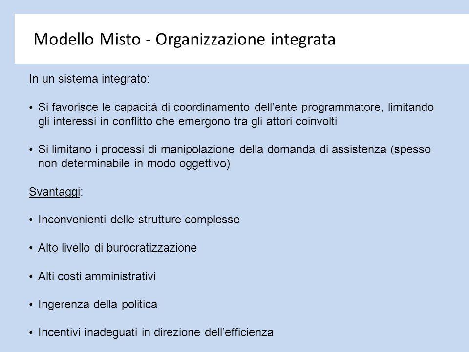 Modello Misto - Organizzazione integrata