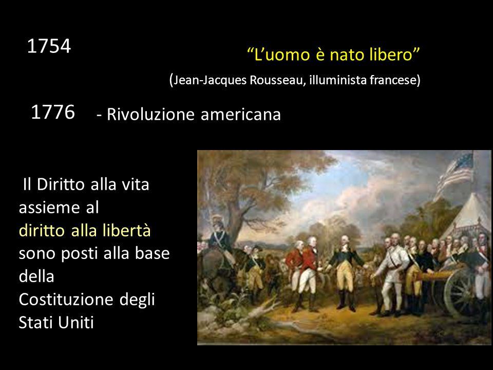 1754 1776 L'uomo è nato libero - Rivoluzione americana