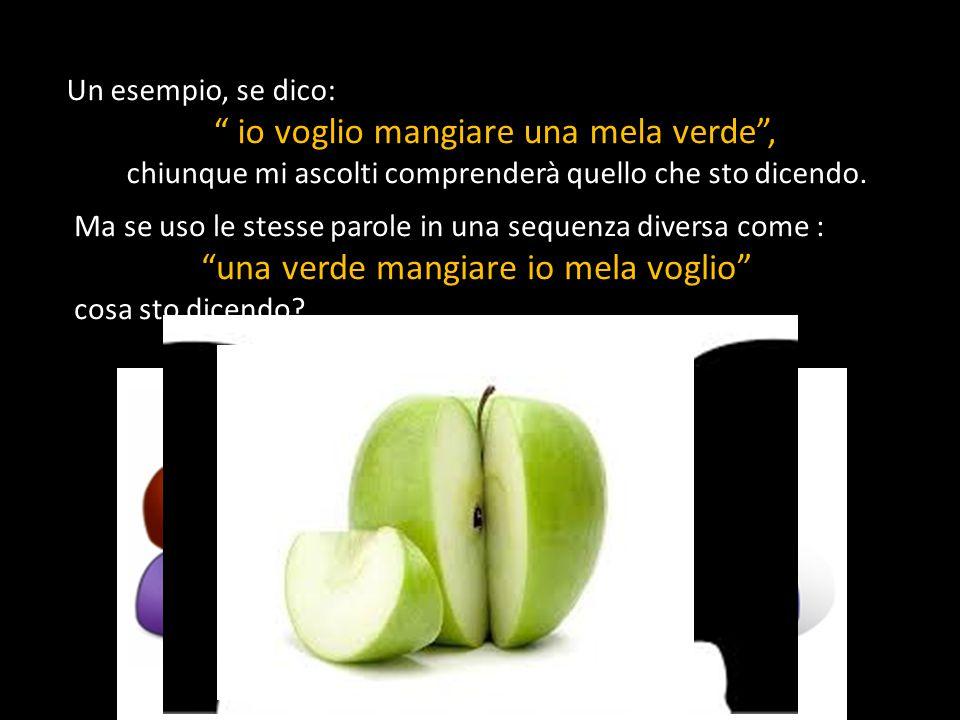 io voglio mangiare una mela verde ,