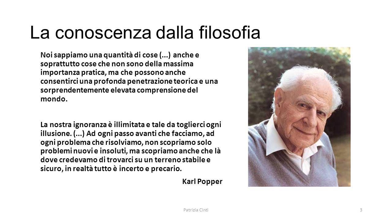 La conoscenza dalla filosofia
