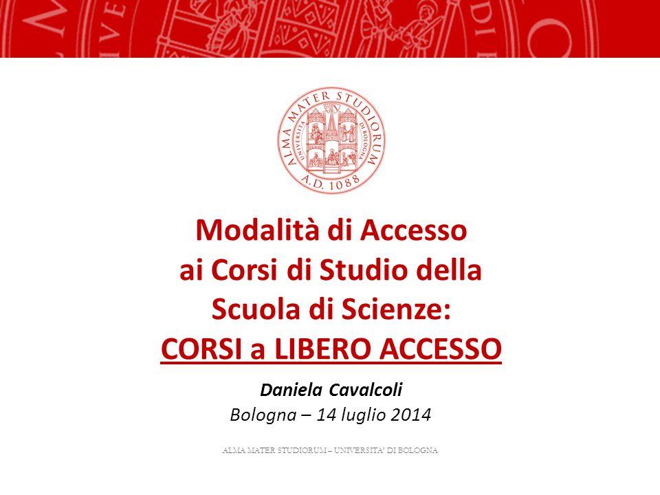 Modalità di Accesso ai Corsi di Studio della Scuola di Scienze: