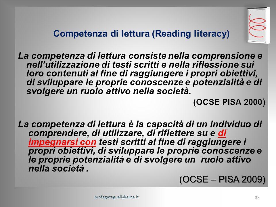 Competenza di lettura (Reading literacy)