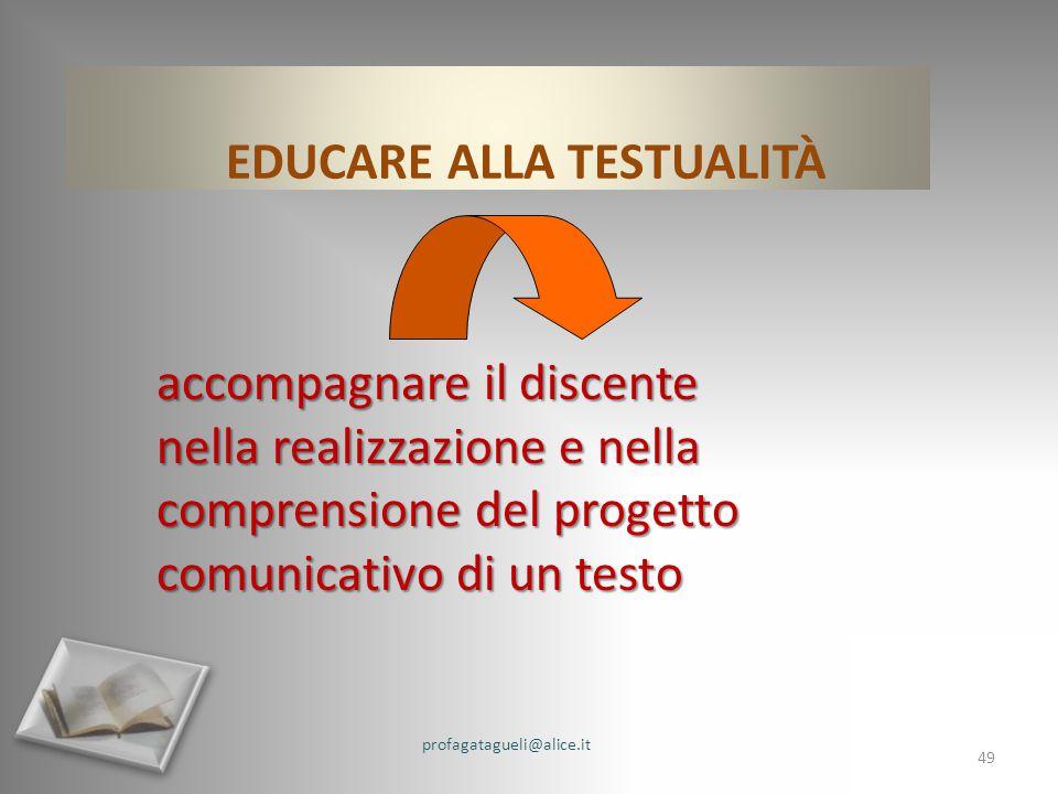 EDUCARE ALLA TESTUALITÀ
