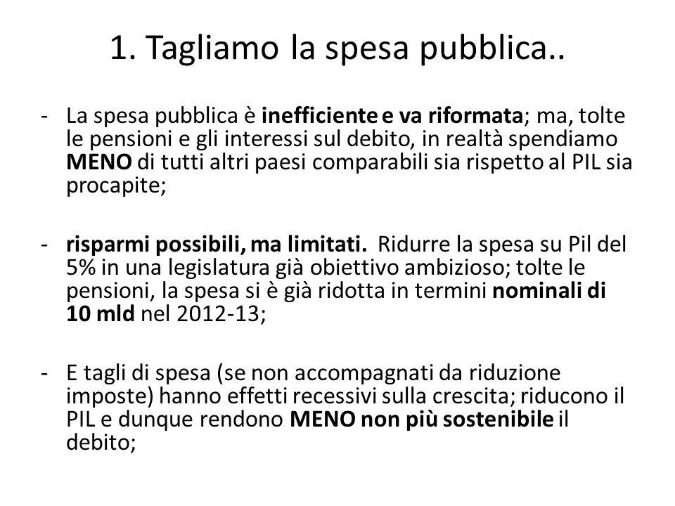 1. Tagliamo la spesa pubblica..