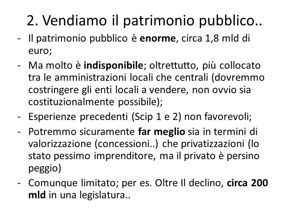 2. Vendiamo il patrimonio pubblico..