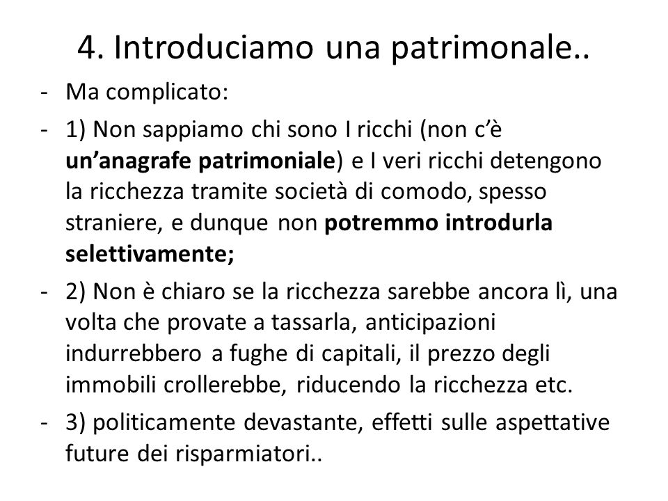 4. Introduciamo una patrimonale..