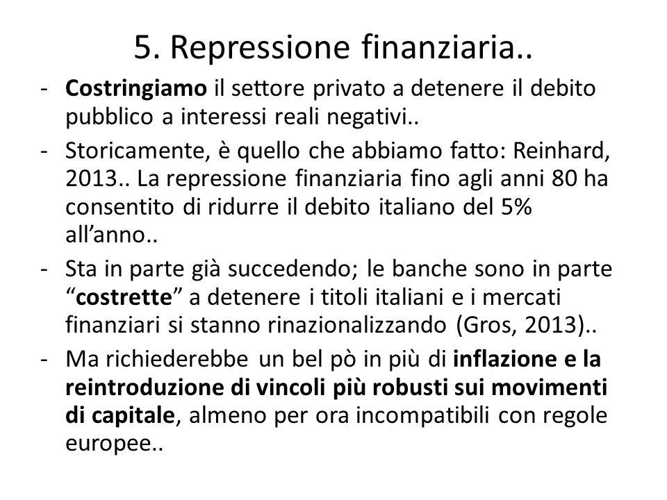 5. Repressione finanziaria..