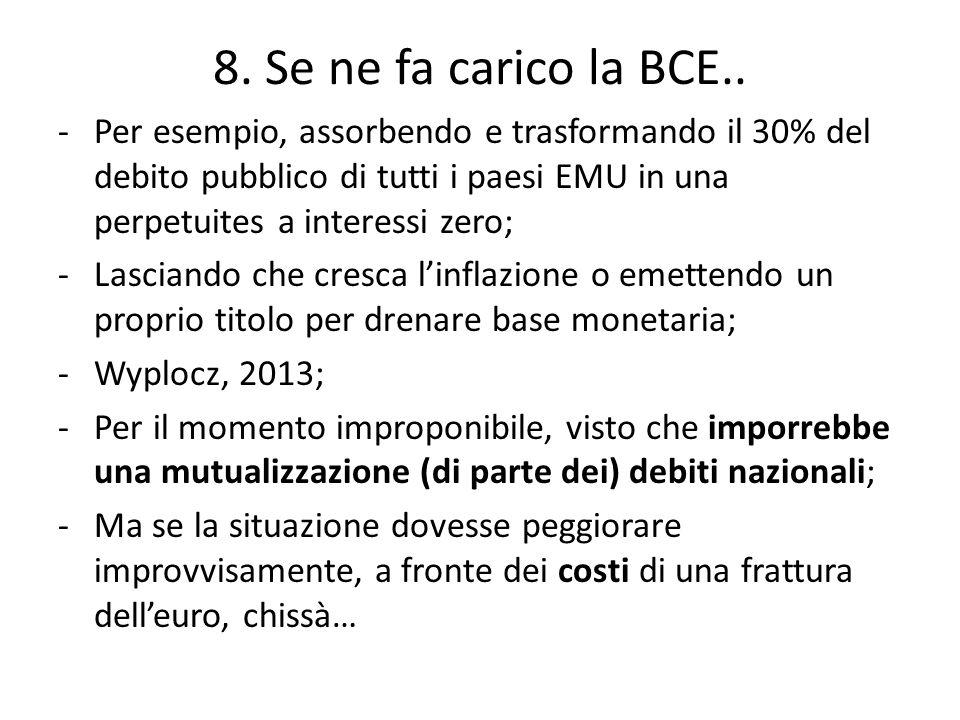 8. Se ne fa carico la BCE..