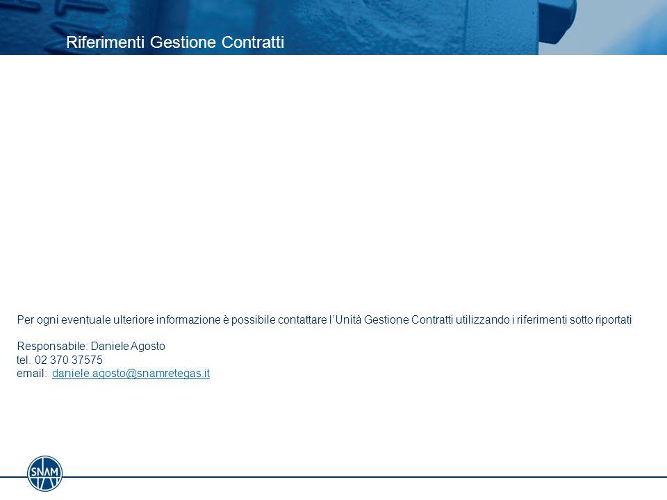 Riferimenti Gestione Contratti