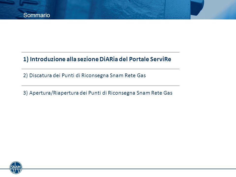 1) Introduzione alla sezione DiARia del Portale ServiRe