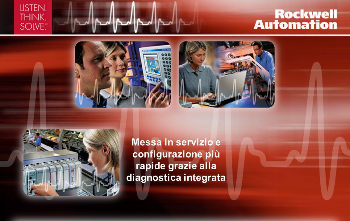 Messa in servizio e configurazione più rapide grazie alla diagnostica integrata