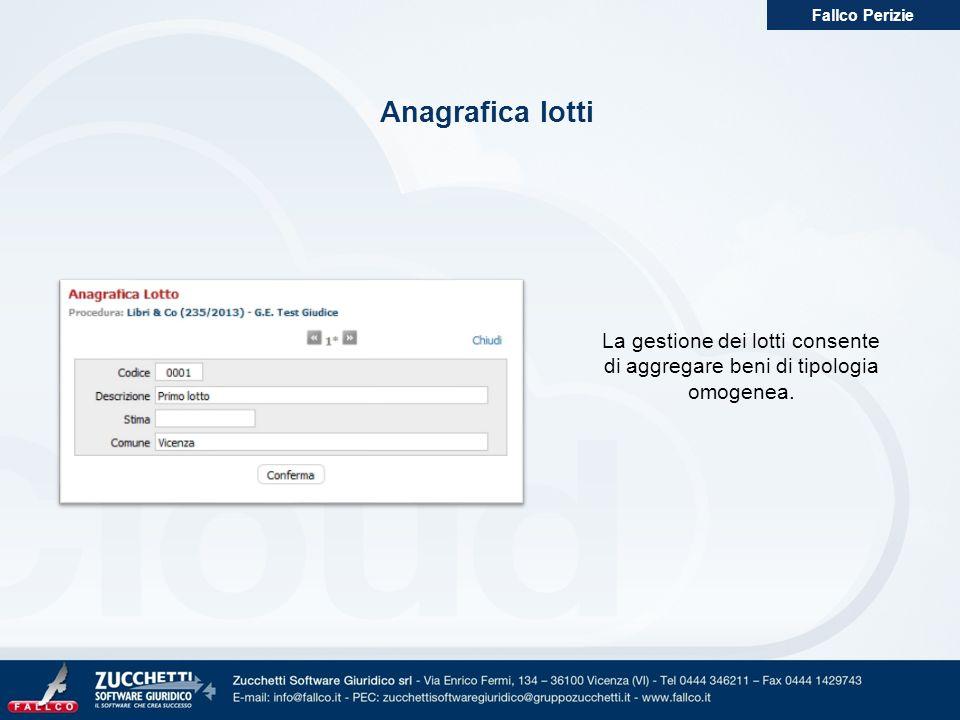 Fallco Perizie Anagrafica lotti.