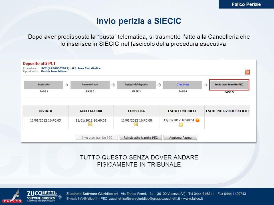 Fallco Perizie Invio perizia a SIECIC.