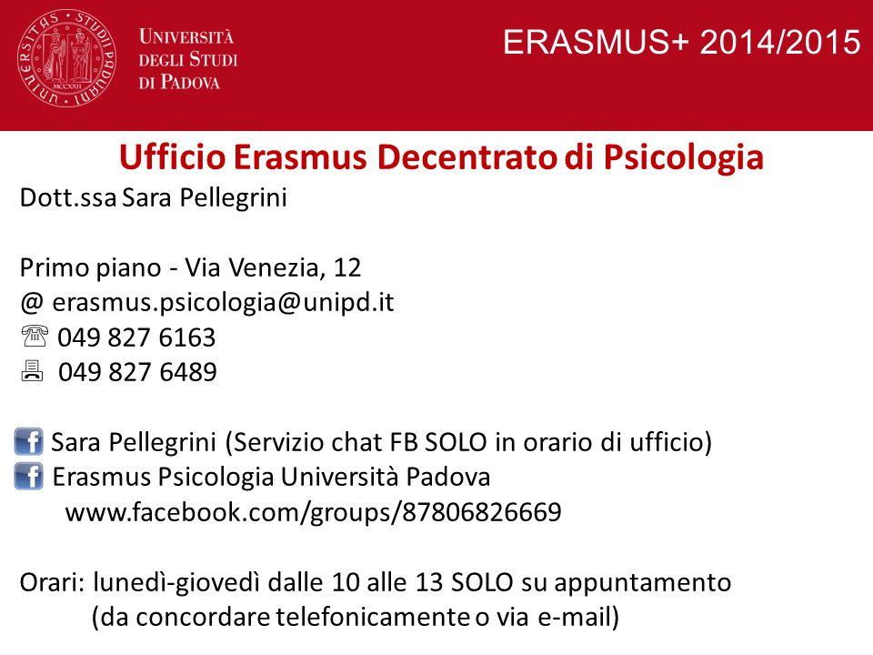 Ufficio Erasmus Decentrato di Psicologia