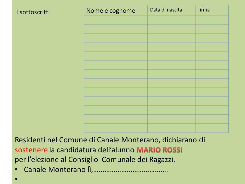 Residenti nel Comune di Canale Monterano, dichiarano di