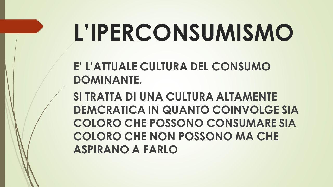 L'IPERCONSUMISMO