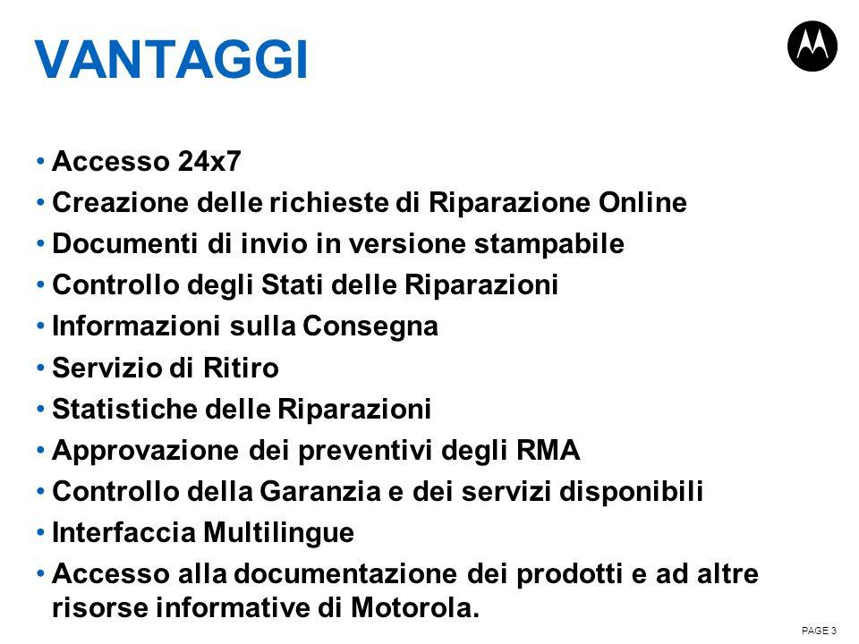 Vantaggi Accesso 24x7 Creazione delle richieste di Riparazione Online