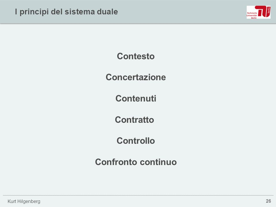 I principi del sistema duale