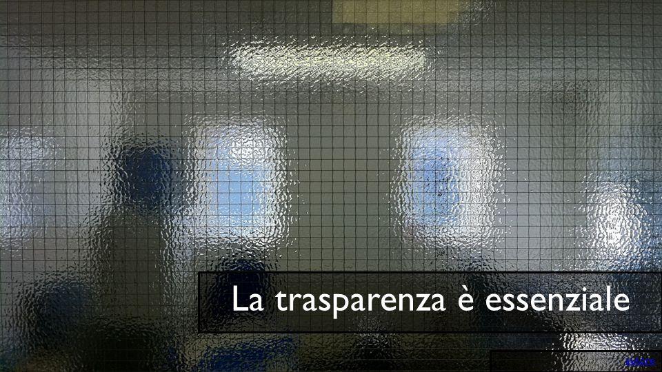 La trasparenza è essenziale